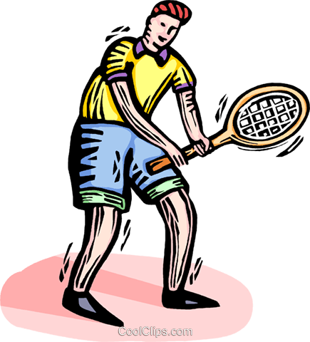 Tennis player Royalty Free Vector Clip Art illustration vc064348