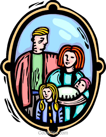 Family picture Royalty Free Vector Clip Art illustration vc064398