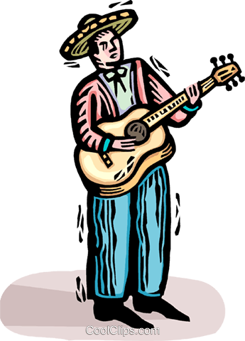 guitar player Royalty Free Vector Clip Art illustration vc064408
