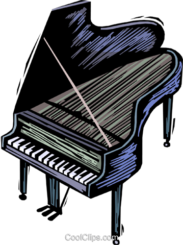 grand pianos Royalty Free Vector Clip Art illustration vc064410