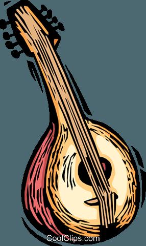 Spanish Guitar Royalty Free Vector Clip Art Illustration