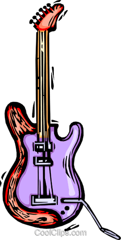 electric guitar Royalty Free Vector Clip Art illustration vc064416