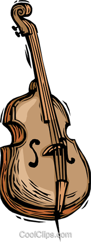 double bass Royalty Free Vector Clip Art illustration vc064419