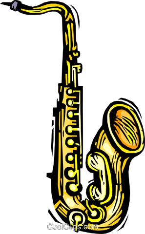 saxophone Royalty Free Vector Clip Art illustration vc064422