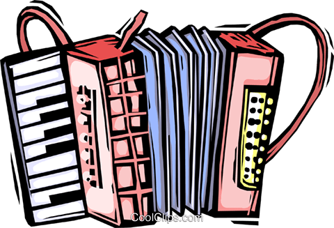 accordion Royalty Free Vector Clip Art illustration vc064423