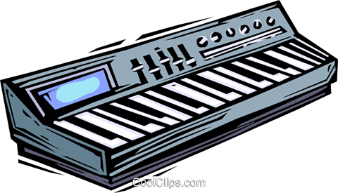 piano/keyboards Royalty Free Vector Clip Art illustration vc064425