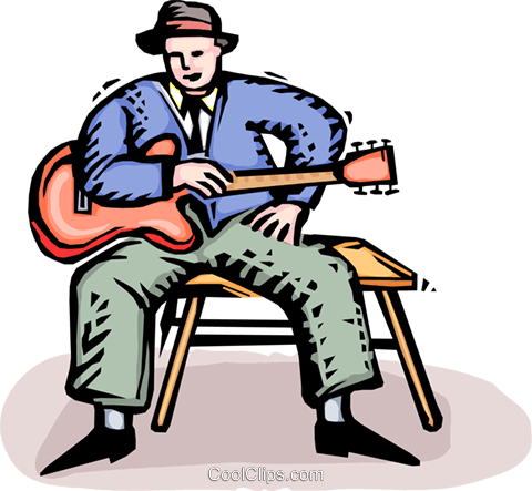 blues man royalty free vector clip art illustration vc064431