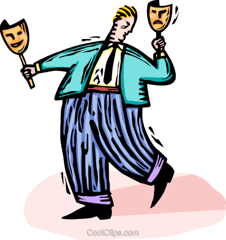 comedy and drama mask Royalty Free Vector Clip Art illustration vc064436