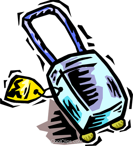 suitcase Royalty Free Vector Clip Art illustration vc064448