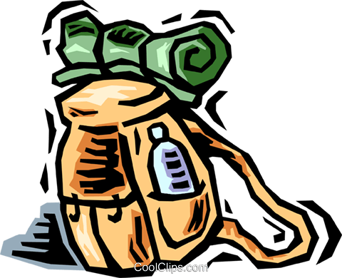 Backpack Royalty Free Vector Clip Art illustration vc064449
