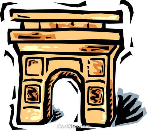 Arc de Triomphe Royalty Free Vector Clip Art illustration vc064455