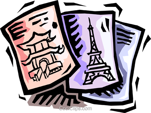 travel brochures Royalty Free Vector Clip Art illustration vc064458