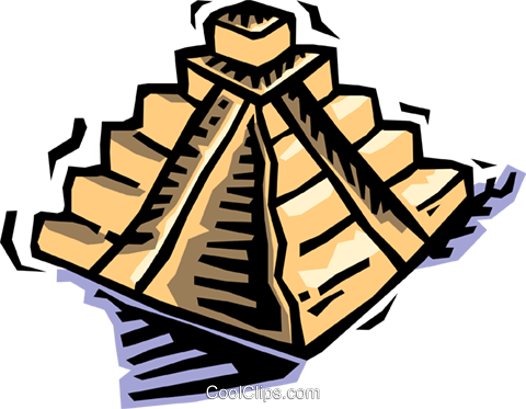 pyramid Royalty Free Vector Clip Art illustration vc064462