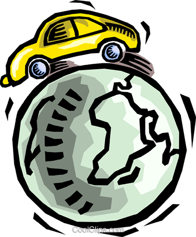 global transportation Royalty Free Vector Clip Art illustration vc064464