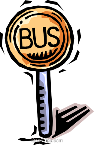bus stop Royalty Free Vector Clip Art illustration vc064472