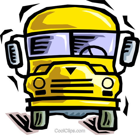 school bus Royalty Free Vector Clip Art illustration vc064473