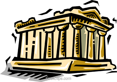 Parthenon Royalty Free Vector Clip Art illustration vc064474