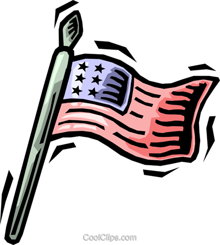 American flag Royalty Free Vector Clip Art illustration vc064482