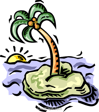 Palm trees Royalty Free Vector Clip Art illustration vc064495