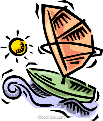 windsurfer Royalty Free Vector Clip Art illustration vc064496