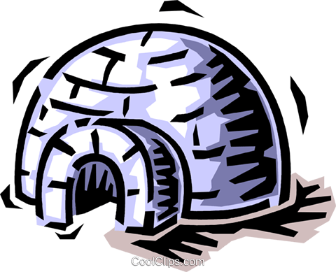 igloo Royalty Free Vector Clip Art illustration vc064501