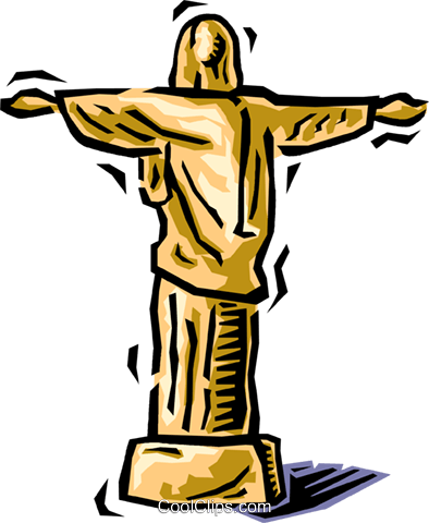 Jesus Royalty Free Vector Clip Art illustration vc064502