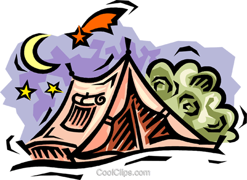 Camping tents Royalty Free Vector Clip Art illustration vc064520