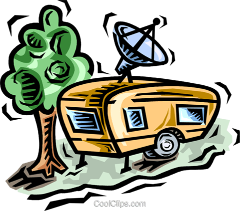 camping trailer Royalty Free Vector Clip Art illustration vc064521