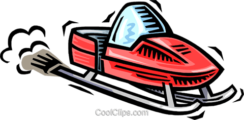 snowmobile Royalty Free Vector Clip Art illustration vc064537