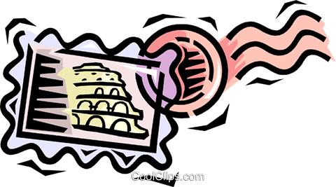 postage stamps Royalty Free Vector Clip Art illustration vc064540
