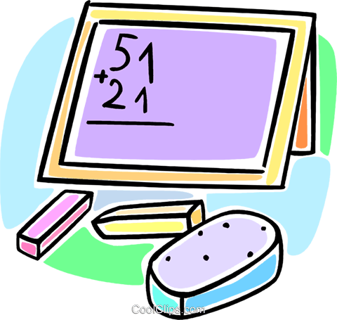school blackboard Royalty Free Vector Clip Art illustration vc064555