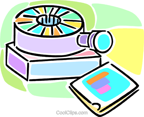 slide projector Royalty Free Vector Clip Art illustration vc064571