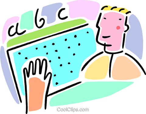 learning Braille Royalty Free Vector Clip Art illustration vc064589