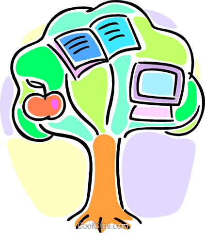 tree of knowledge Royalty Free Vector Clip Art illustration vc064608