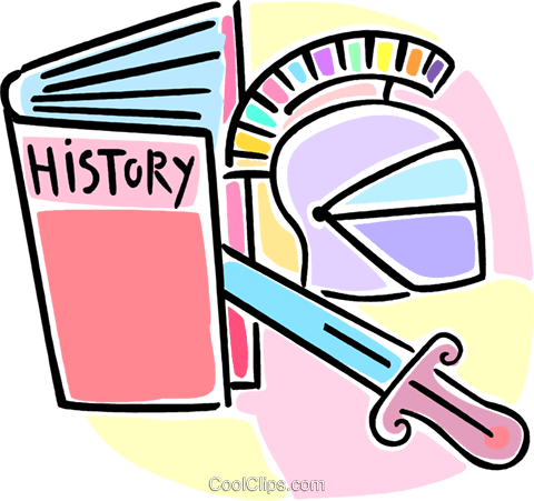 history book and artifacts Royalty Free Vector Clip Art illustration vc064624