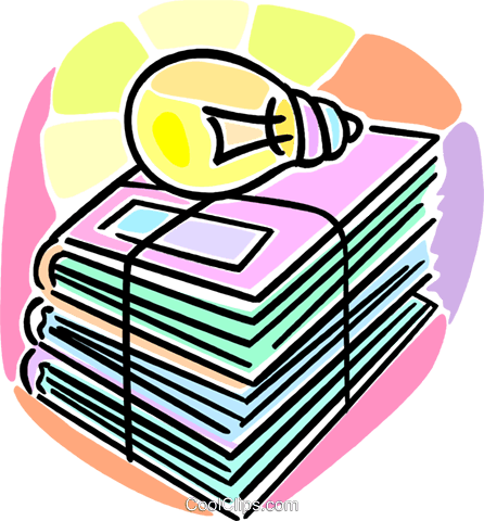 school books Royalty Free Vector Clip Art illustration vc064639