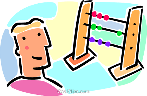 abacus Royalty Free Vector Clip Art illustration vc064642