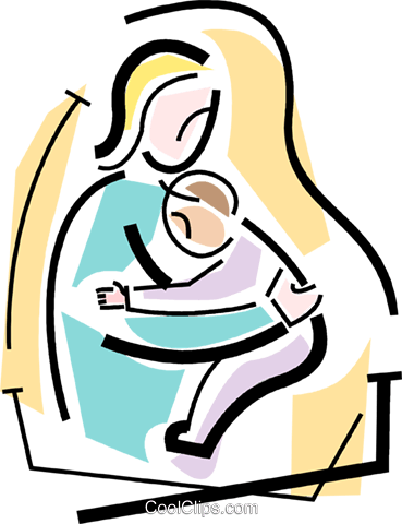 Mother and child Royalty Free Vector Clip Art illustration vc064698