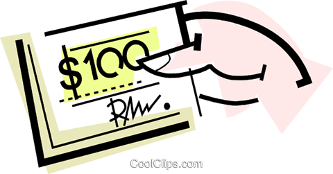 check/cheque Royalty Free Vector Clip Art illustration vc064718