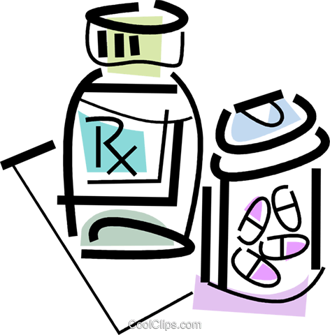 prescription drugs Royalty Free Vector Clip Art illustration vc064744