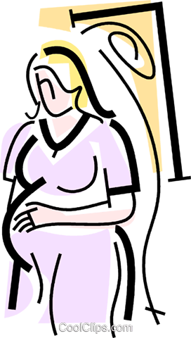 pregnant woman Royalty Free Vector Clip Art illustration vc064745