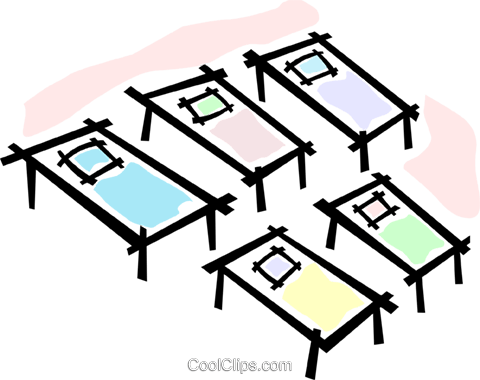 cots/beds Royalty Free Vector Clip Art illustration vc064749
