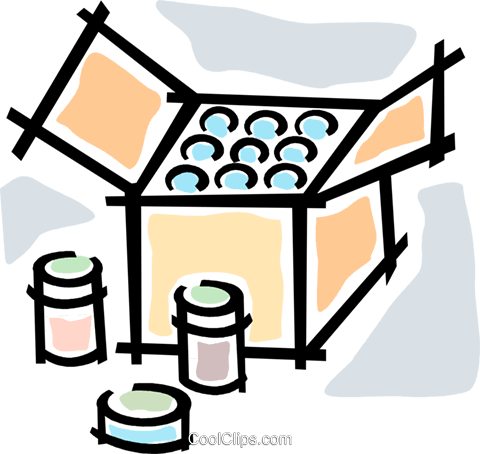box of goods Royalty Free Vector Clip Art illustration vc064757