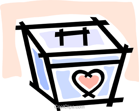 organ transplant container Royalty Free Vector Clip Art illustration vc064765