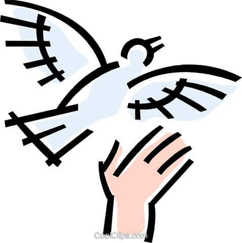 dove Royalty Free Vector Clip Art illustration vc064769