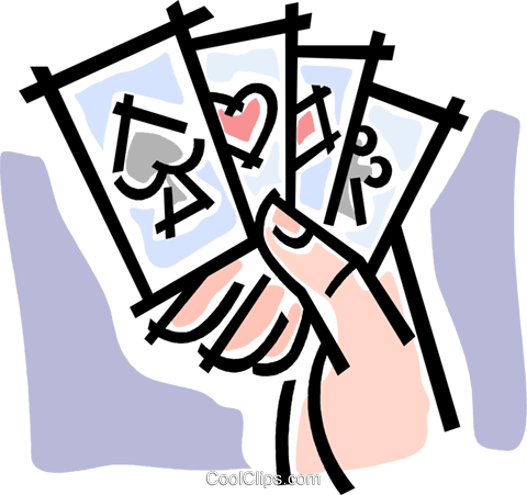 playing cards Royalty Free Vector Clip Art illustration vc064789