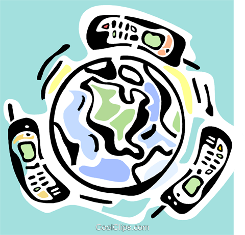 global communications Royalty Free Vector Clip Art illustration vc064798