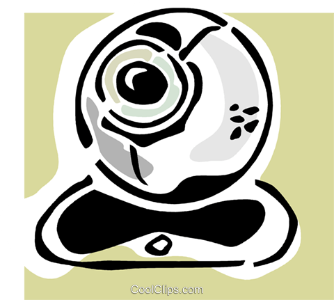 computer camera Royalty Free Vector Clip Art illustration vc064824