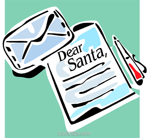 Christmas list Royalty Free Vector Clip Art illustration vc064861