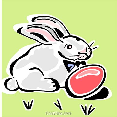 Easter bunny Royalty Free Vector Clip Art illustration vc064869